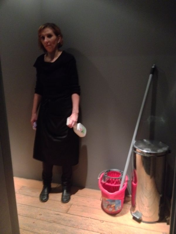 Wapping Studios The Porcelain Gentleman - Bathroom cleaning lady